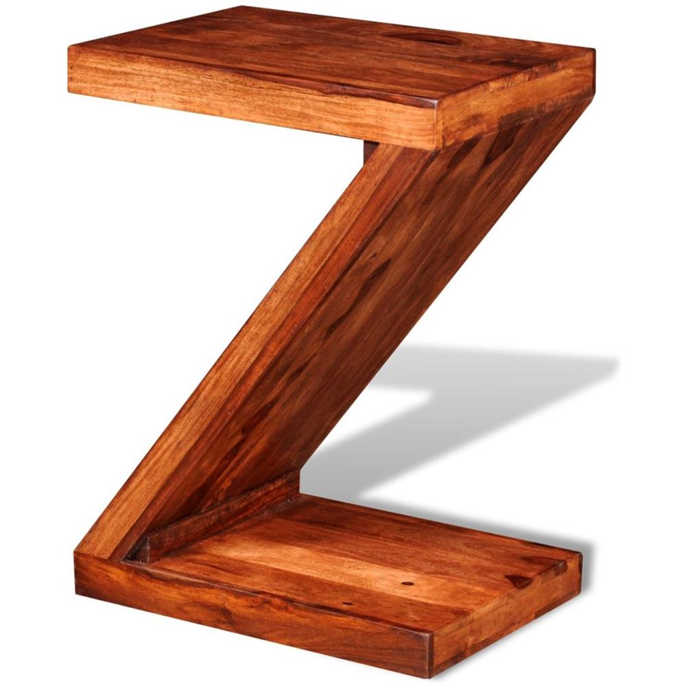 vidaXL - Tavolino Laterale In Legno Massello Di Sheesham A Forma Z ...