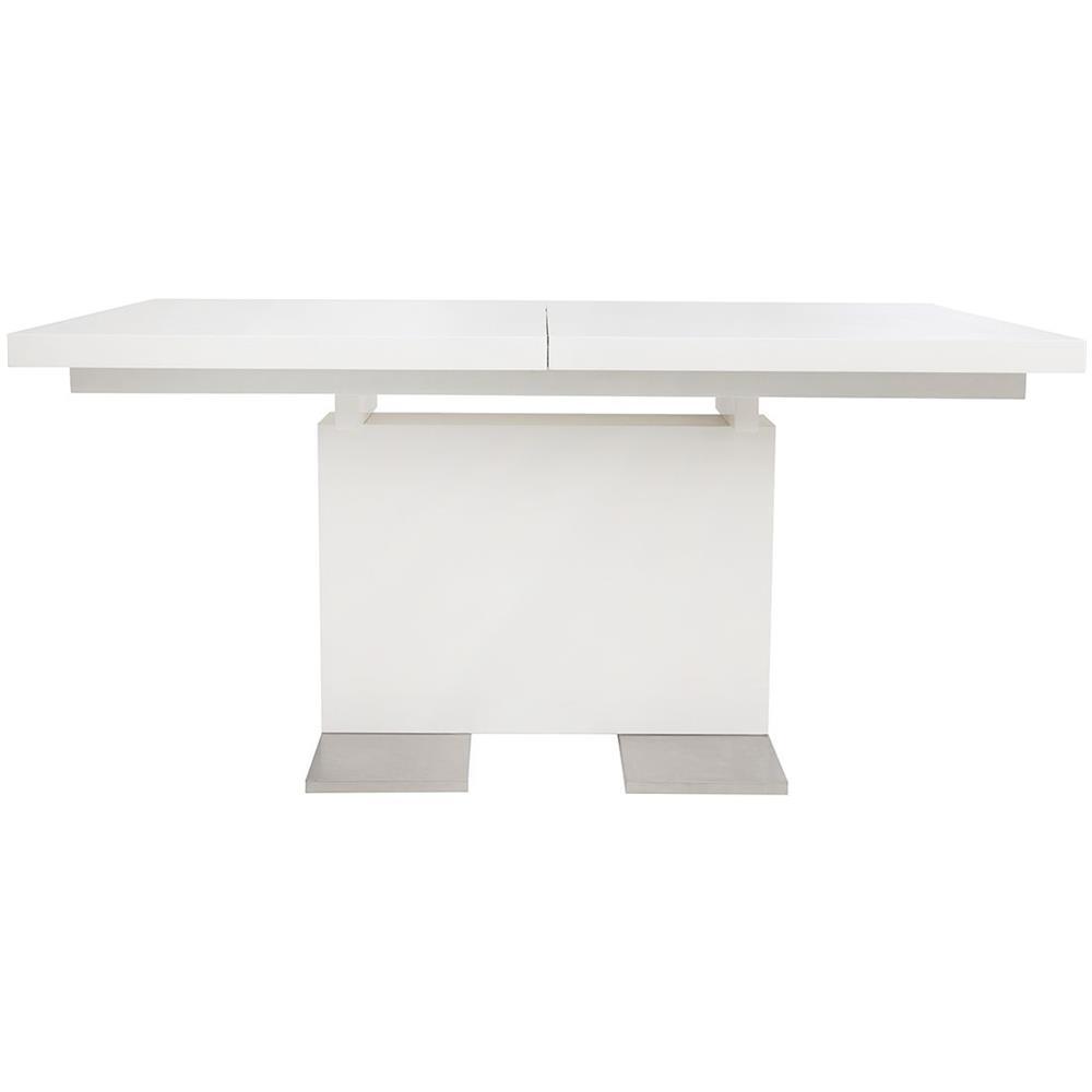 Tavolo Design Bianco.Miliboo Tavolo Design Allungabile Laccato Bianco L160 220 Nemia