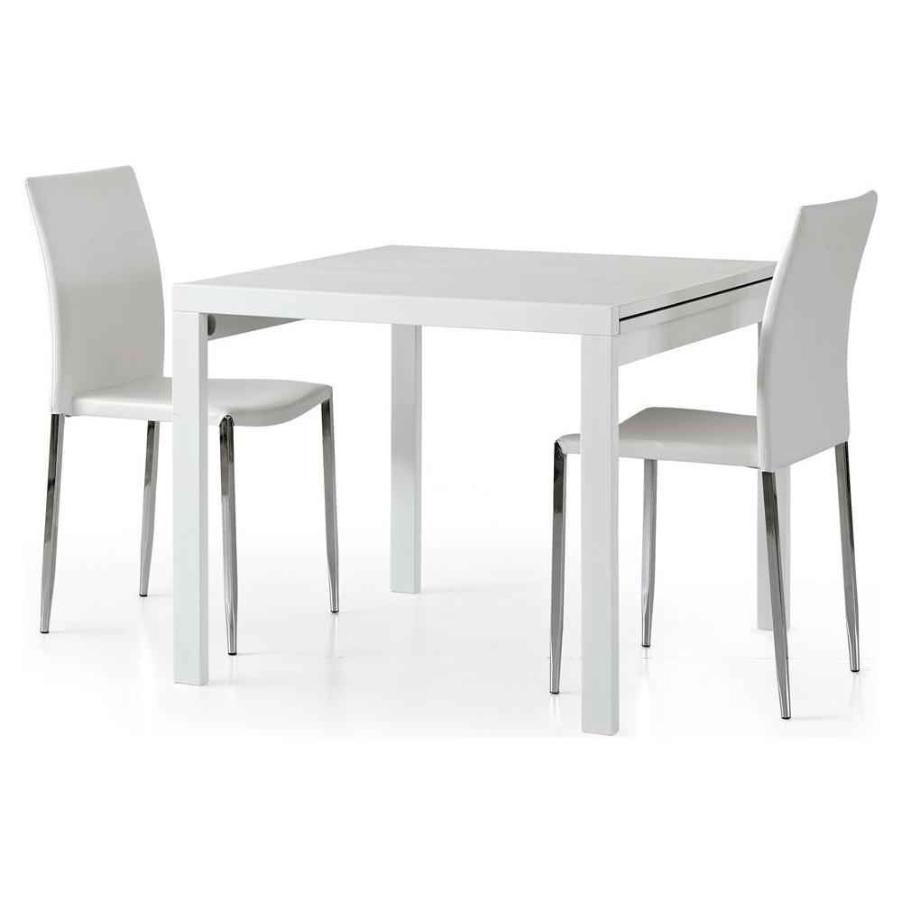 Storm Tavolo simple 90x90 allungabile bianco frassinato