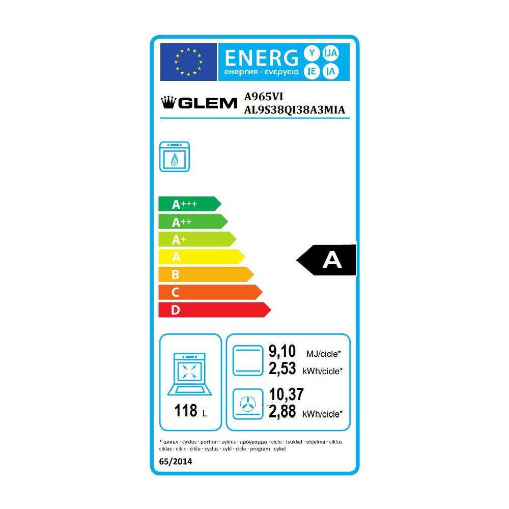 Glem gas cucina elettrica a965vi 5 fuochi gas forno gas classe a dimensione 90 x 60 cm colore - Cucina a gas mediaworld ...