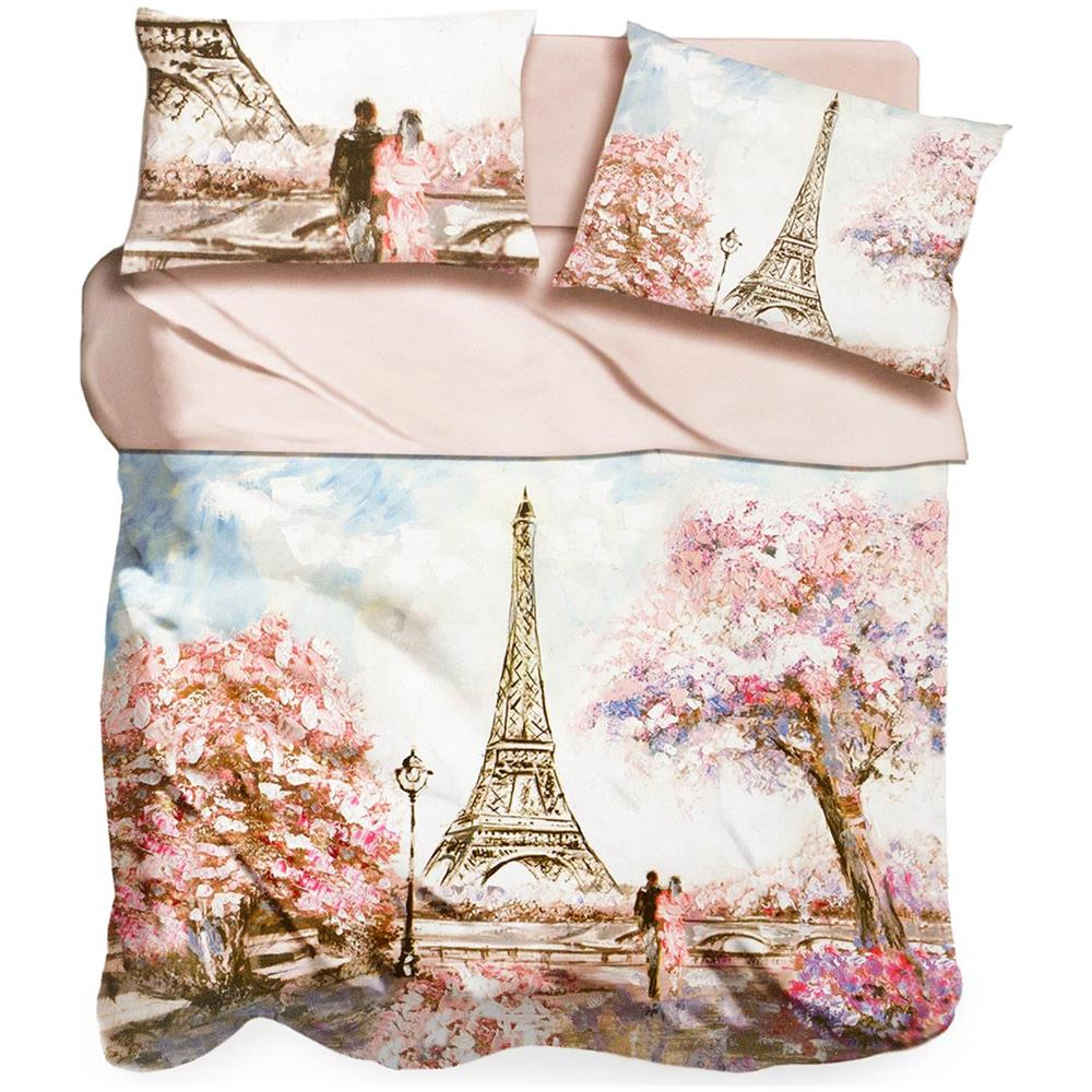 Completo Letto Matrimoniale 3d.I Love Sleeping Completo Lenzuola Pink Paris I Love Sleeping