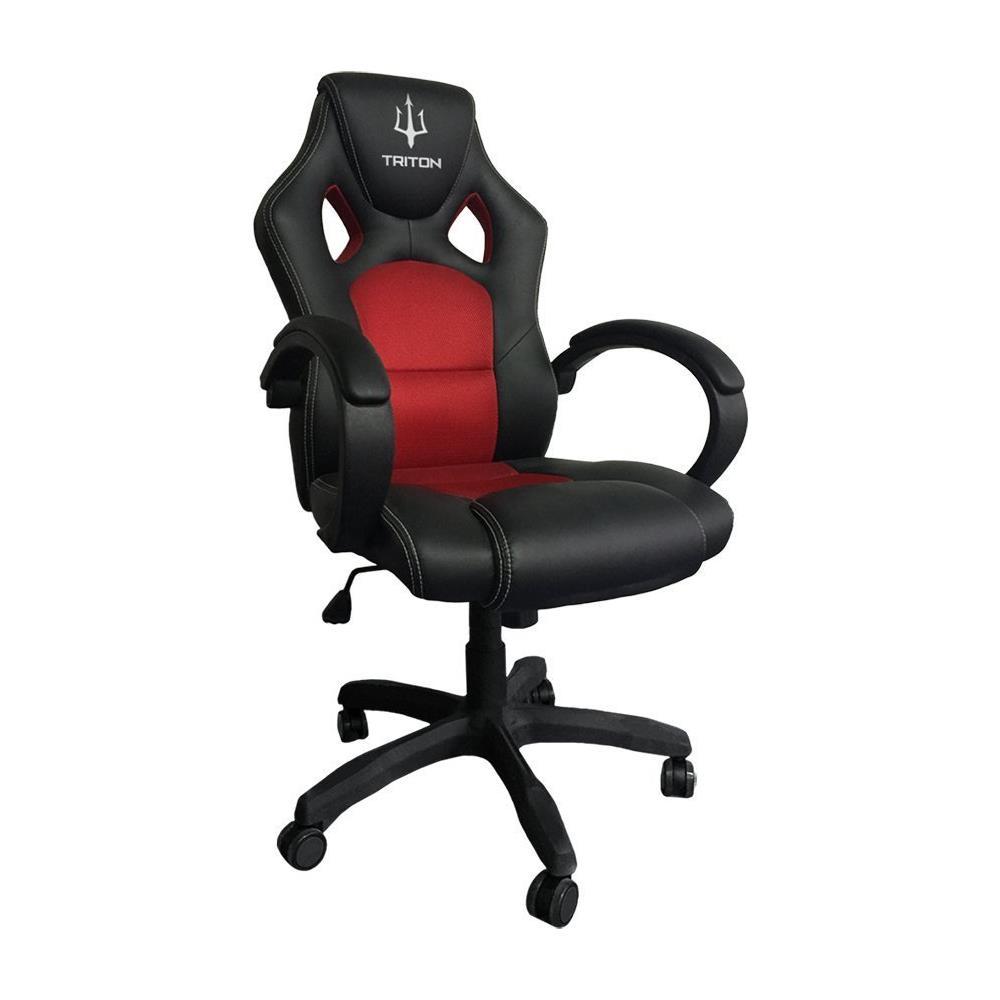 Sedia Gaming A1 in Finta Pelle Colore Nero / Rosso