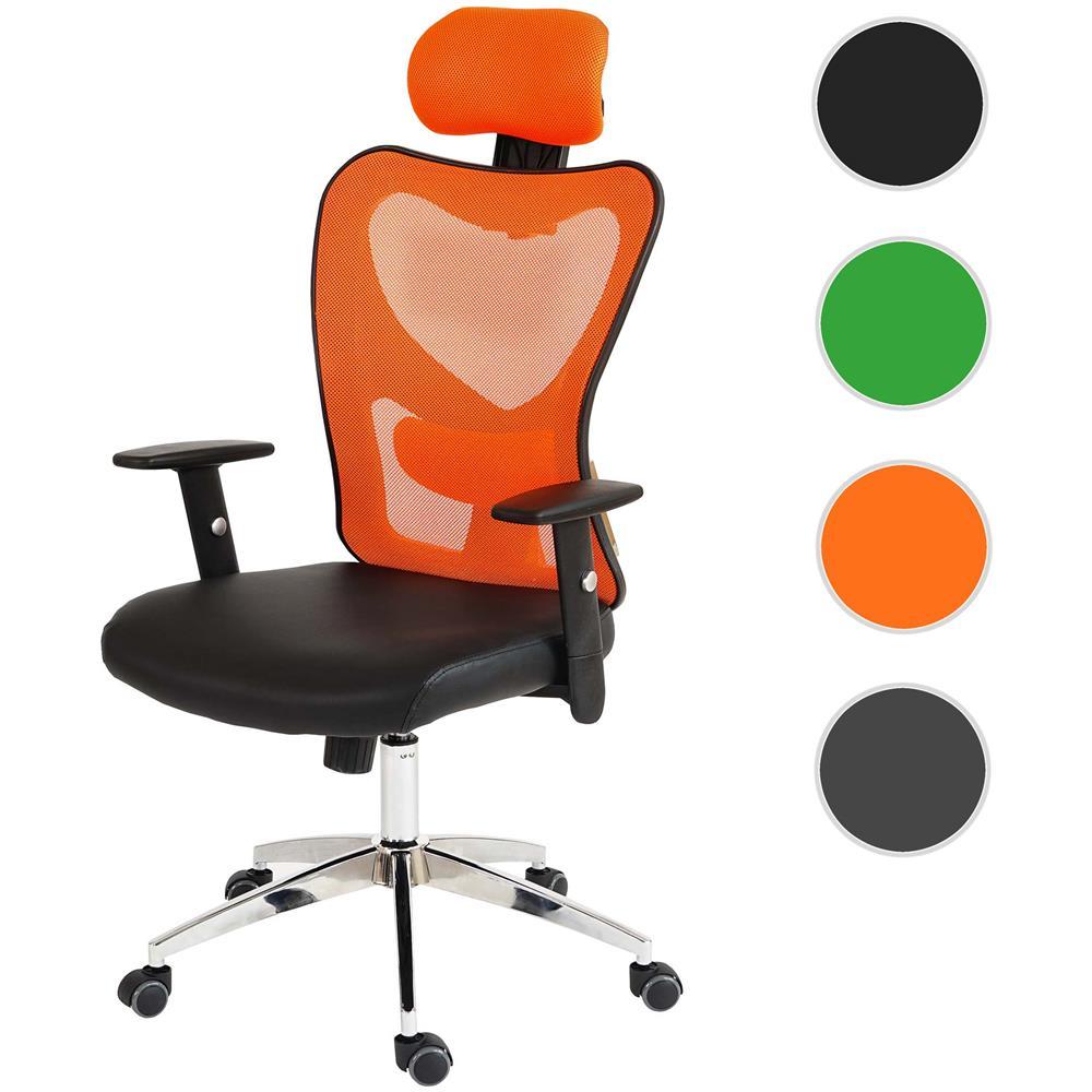 Poltrona Ufficio Arancione.Mendler Poltrona Ufficio T350 Atlanta Xxl Ecopelle Design Moderno Arancio