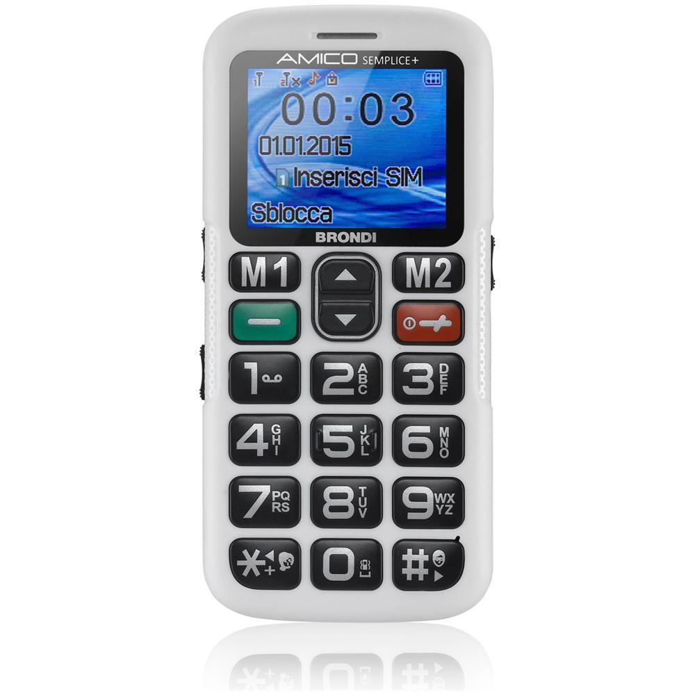 1.8'', GSM 850/900/1800/1900MHZ, Micro SD, Dual SIM, 500 nomi e numeri, 700 mAh, Bianco