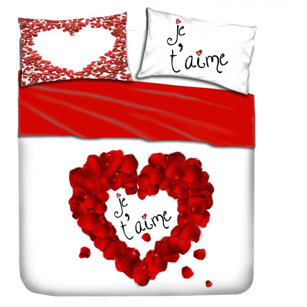 I Love Sleeping Completo Lenzuola Je T Aime I Love Sleeping Digitale 3d Matrimoniale R036 Eprice