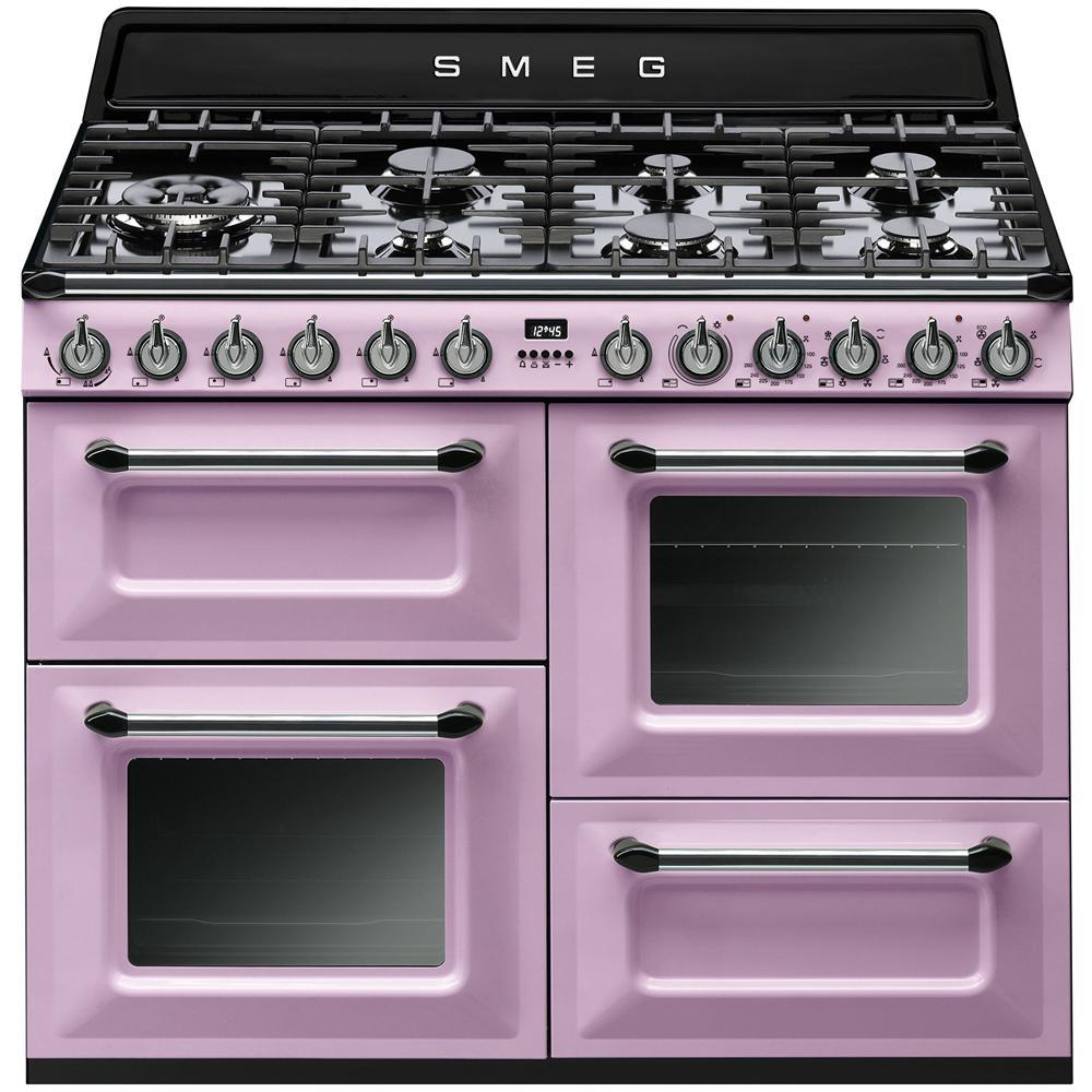 SMEG - TR4110RO Cucina a Gas 7 Zone Cottura con Forno Elettrico ...