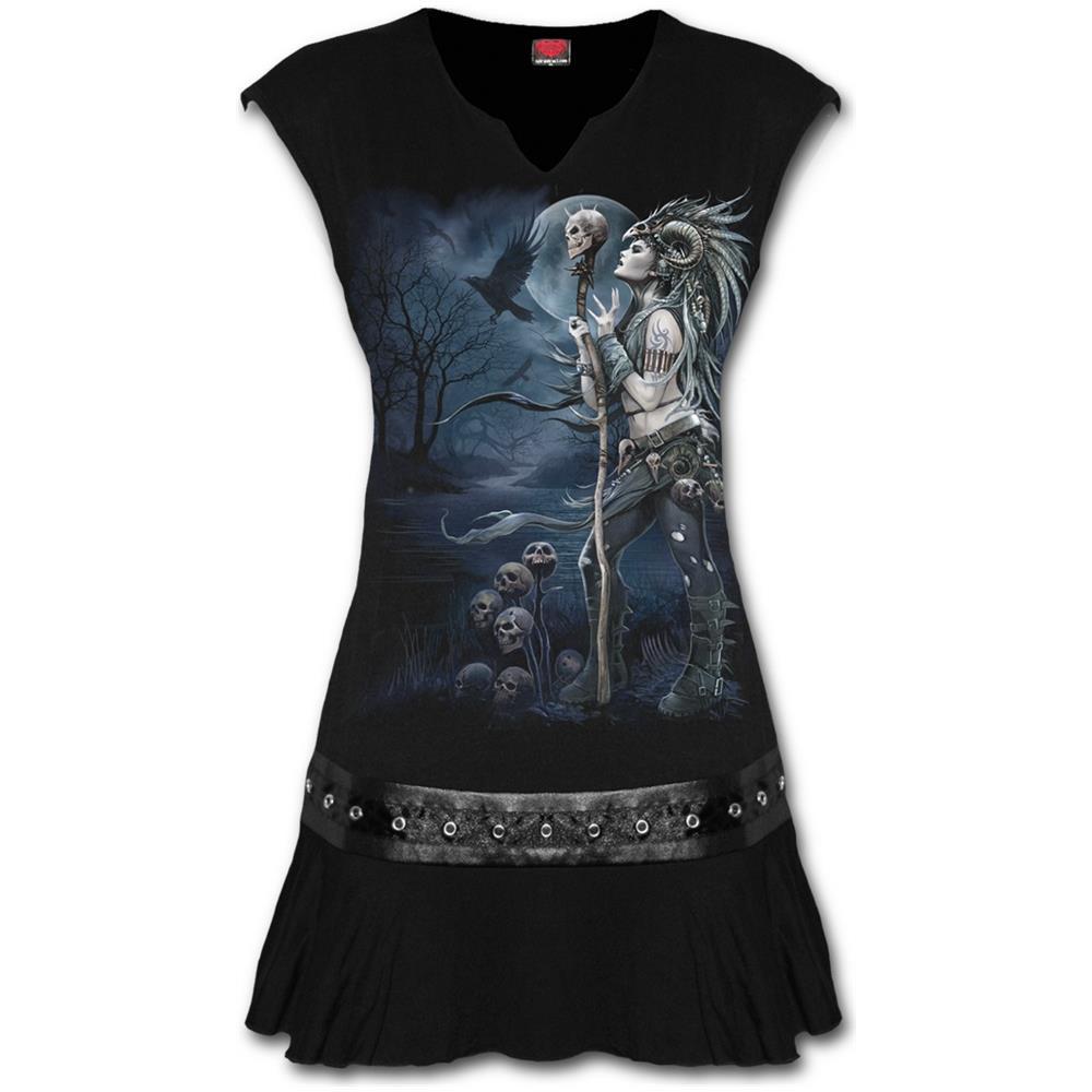 - Raven Queen Stud Waist Mini Black (Vestito Donna Tg. L)