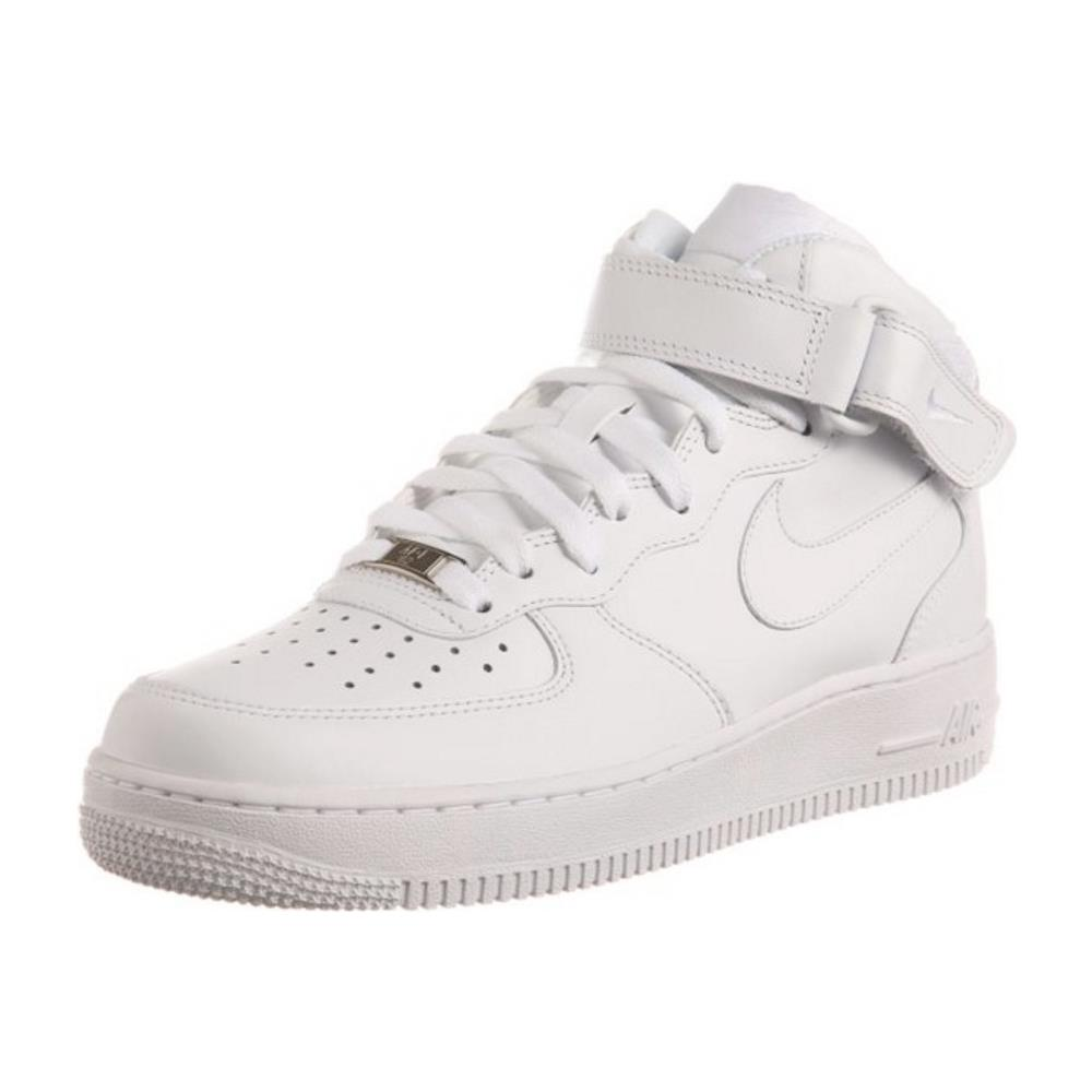 Nike Air Force 1 Mid (gs) Scarpe Sportive Bianche Pelle 314195 113 37,5