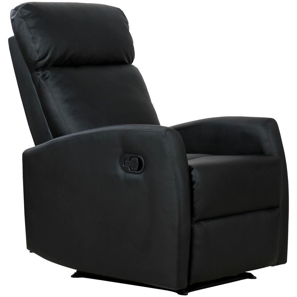 Poltrona Relax Reclinabile.Homcom Poltrona Relax Reclinabile Ergonomica In Ecopelle 65x92x100cm Nero