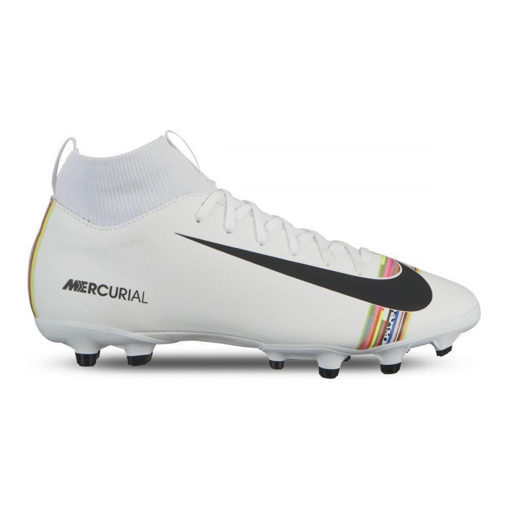 NIKE Scarpe Calcio Bambino Nike Mercurial Superfly Academy Mg Lvl Up Pack Taglia: 36 Colore: Bianco Argento