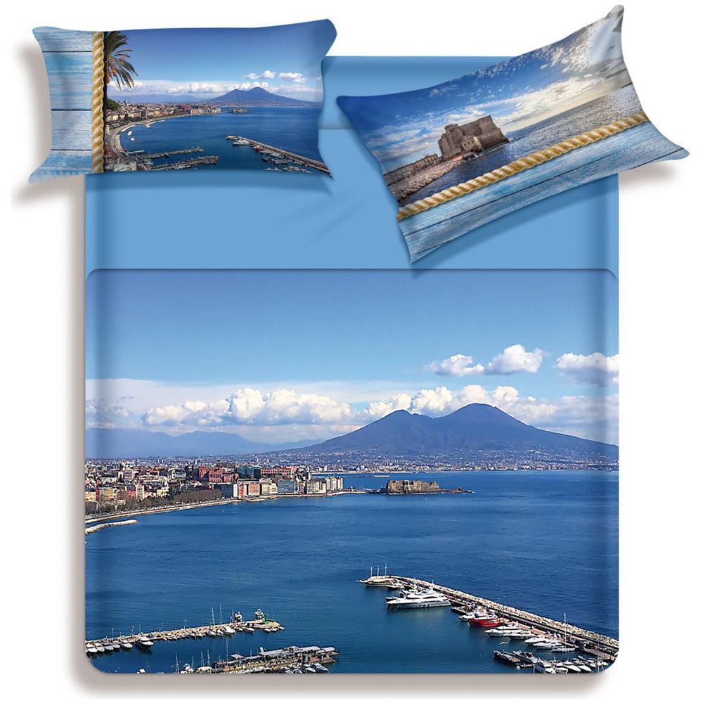 Biancaluna Completo Lenzuola Gulf Biancaluna Stampa Digitale Matrimoniale S697 Eprice