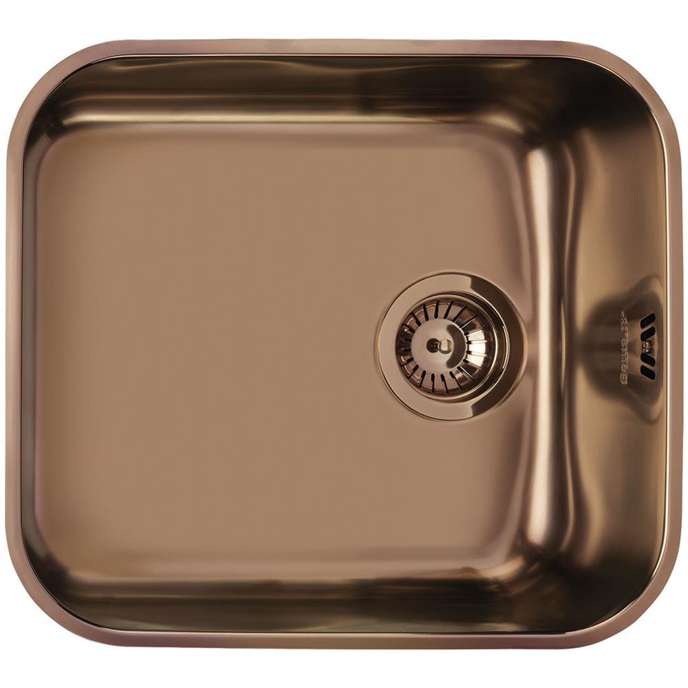 Lavello In Rame Per Cucina.Smeg Lavello Da Incasso Um45ra2 1 Vasca Dimensioni 47 X 42 Cm Colore Rame Serie Alba