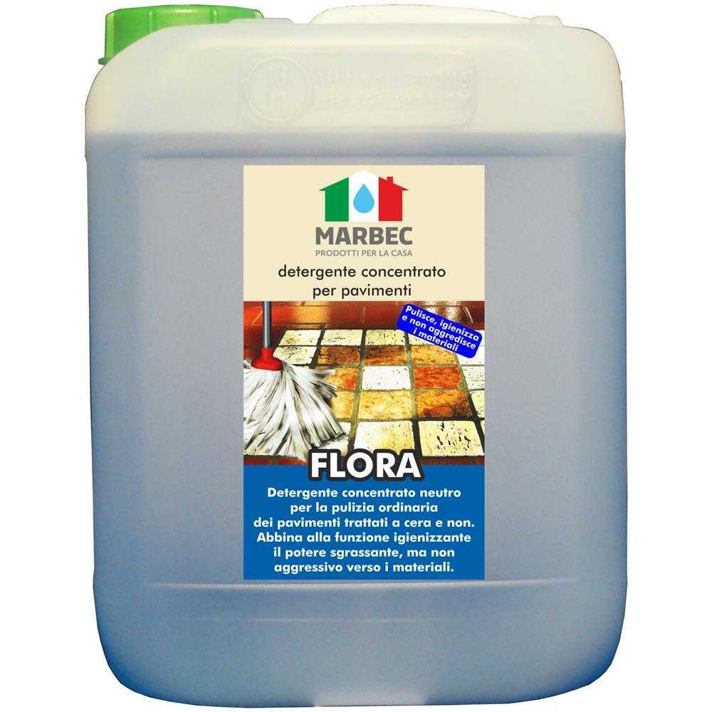 Detergente Per Cotto Esterno marbec flora 5lt | detergente concentrato per pavimenti