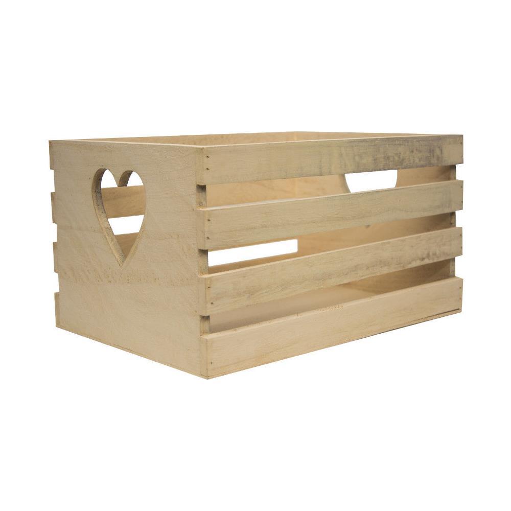 Cassette Della Frutta Legno fair shoponline cassetta frutta legno naturale cuore porta oggetti a doghe  27 x 20 cm decoupage