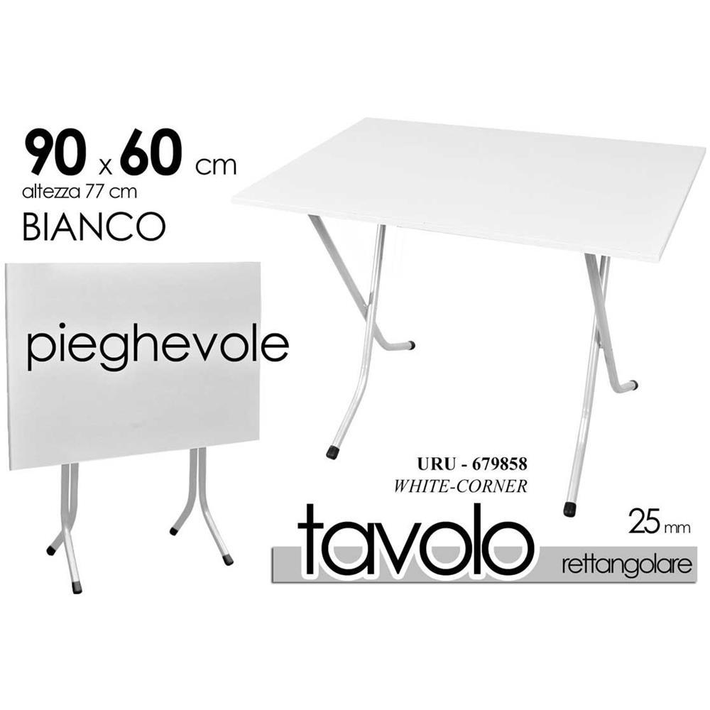 Tavoli Pieghevoli Da Pic Nic.Argonauta Tavolo Pieghevole Bianco Slim Pic Nic 90 X 60