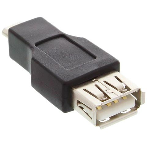 INLINE 31608 MicroUSB-B USB-A Nero cavo di interfaccia e adattatore