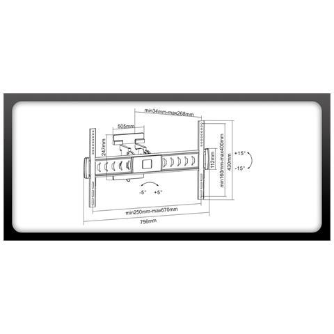 Puremounts PM-Motion-65, 200 x 200,300 x 300,400 x 200,400 x 400,600 x 200,600 x 400 mm, -15 - 15°, -45 - 45°