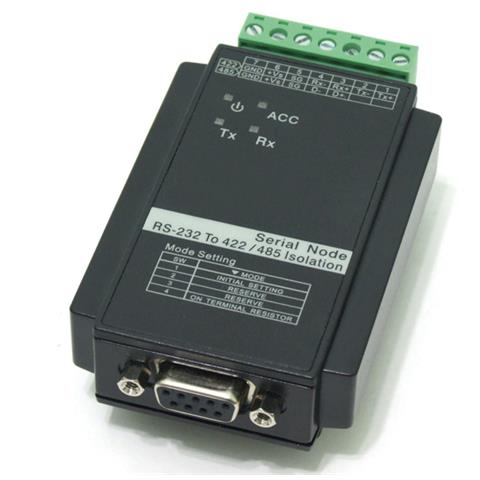 Roline Converter RS-232 to RS-422/485, with Isolation, for DIN Rail, Professional, Nero