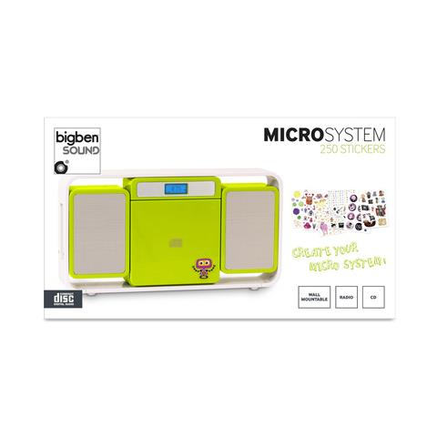 BIGBEN Interactive MCD10 Kids, Digitale, FM, PLL, Lettore, CD, LCD, Blu