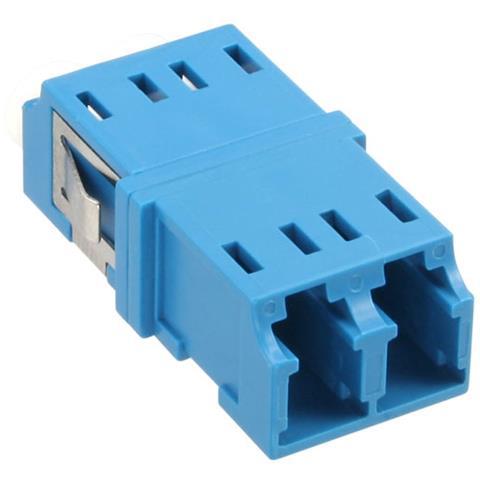 INLINE Duplex LC / LC, SingleMode, w / o flange 2 x LC 2 x LC Blu cavo di interfaccia e adattatore