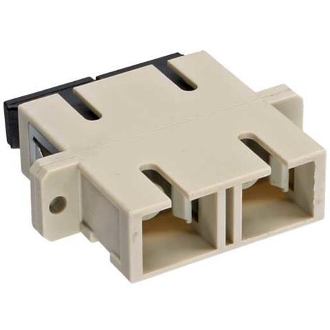 INLINE Duplex SC / SC, Multimode, with flange 2 x SC 2 x SC Beige cavo di interfaccia e adattatore