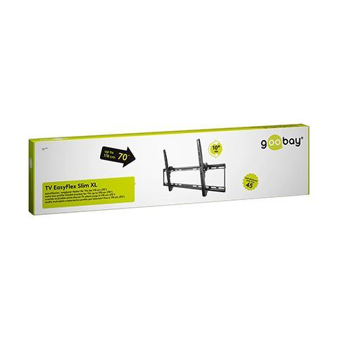 Wentronic TV EasyFlex Slim XL, 800 x 400 mm, Nero, 0 - 10°, XL, Scatola