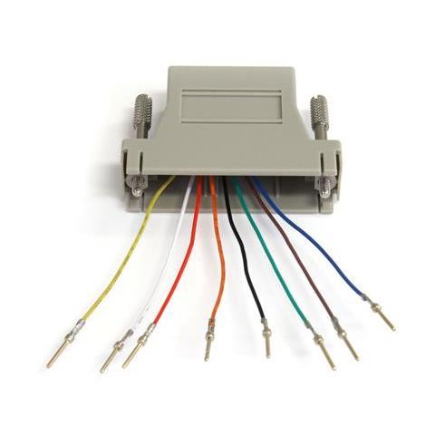 STARTECH.COM Adapter DB25M to RJ45F Grigio cavo di interfaccia e adattatore