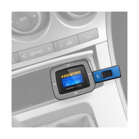 Energy Sistem Car MP3 1100, 87.5 - 108 MHz, LCD, Cablato, Oro, SD, SDHC, 12V