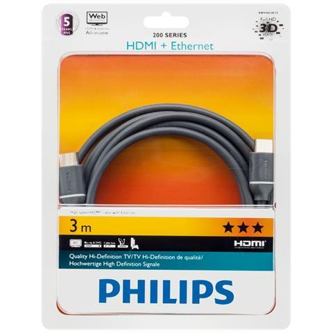 PHILIPS Cavo HDMI con Ethernet SWV4433S / 10