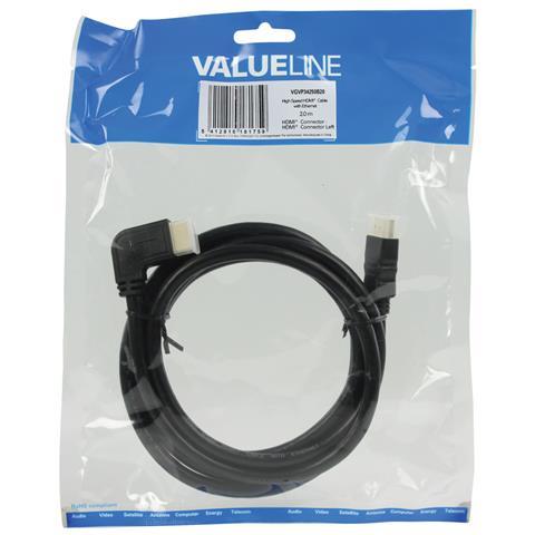 VALUELINE HDMI - HDMI, 2.0m, 2m, HDMI, HDMI, Sacchetto di politene
