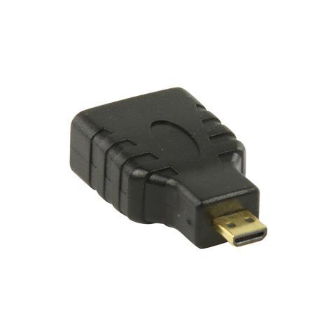 VALUELINE VGVP34907B, MicroHDMI, HDMI, Maschio / femmina, Nero, PVC, Sacchetto di politene