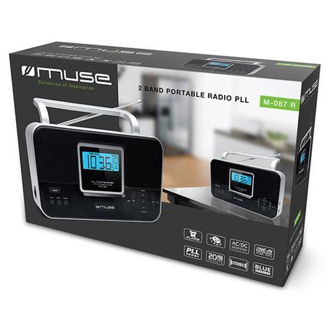 Muse M-087R, 3,5 mm, D, Personale, Analogico, FM, MW, Blu