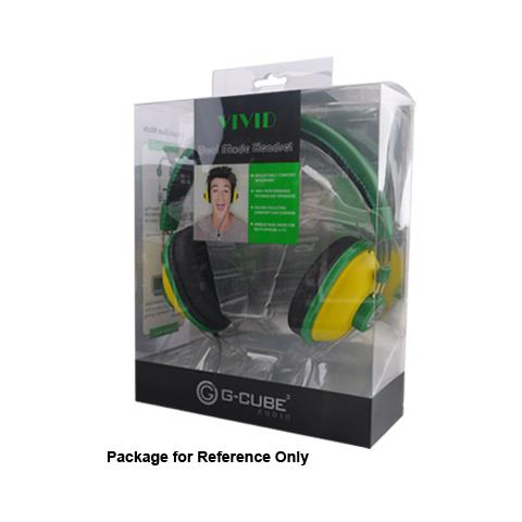 "G-CUBE GHV-170G, Stereofonico, Verde, Padiglione auricolare, Cablato, 3.5 mm (1/8"") , Circumaurale"