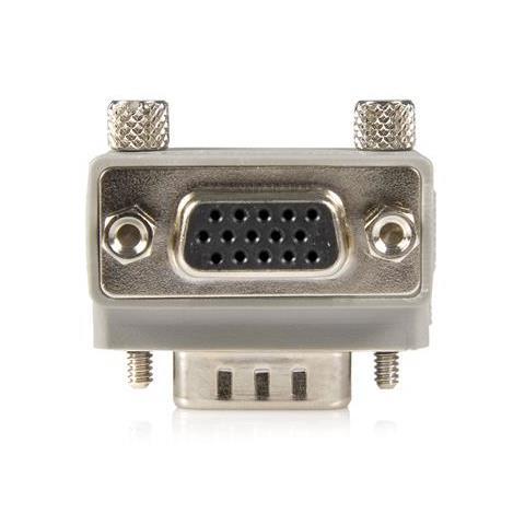 STARTECH.COM Right Angle VGA / VGA Cable Adapter Type 1 - M / F DB15 DB15 Grigio cavo di interfaccia e adattatore