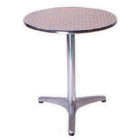Tavolo da Giardino Tondo in Alluminio 60 cm