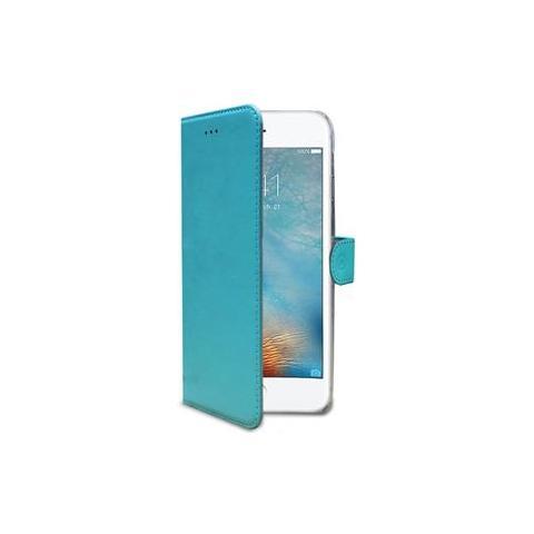 CELLY Flip Cover Custodia Wally in pelle per iPhone 7 Plus - Azzurro