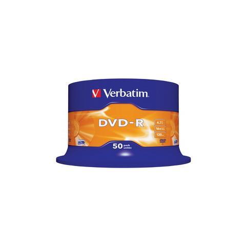VERBATIM DVD-R 16x Adv AZO 4,7GB Spindle 50 pz
