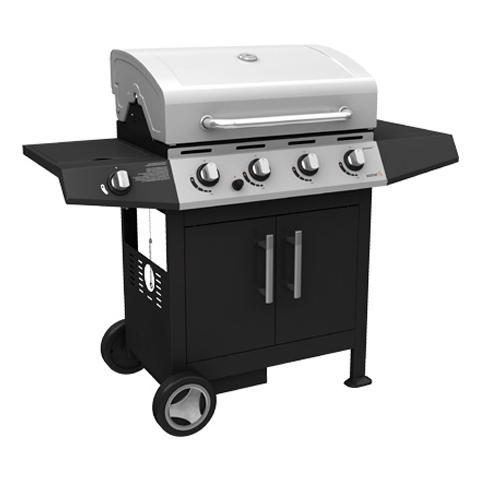 Barbecue a Gas con Fornello e Griglia con 4 Bruciatori in Acciaio