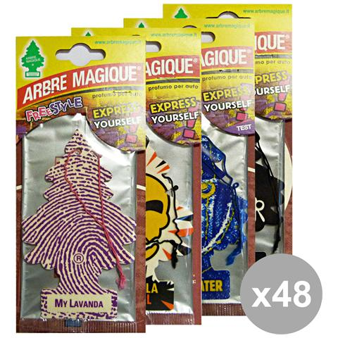 Arbre Magique Set 48 Deodorante Free Style Cassa Mista Accessori Auto