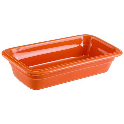 Bacinella Gn 1/3 Cm 17x32x6,5 Porcellana Arancio