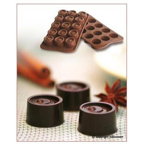 Silikomart Stampo cioccolato vertigo easy choc 35x30mm h. 16mm 112.5ml silicone