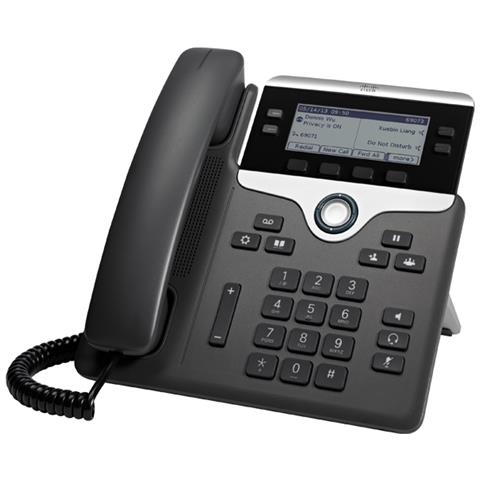 Image of Cisco 7841 Cornetta cablata 4linee LCD Nero, Argento telefono IP