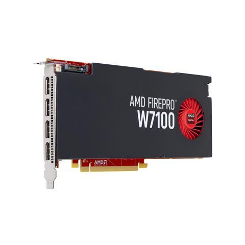 Image of AMD FirePro W7100 8 GB GDDR5 PCI Express 3.0 / 4 x DisplayPort
