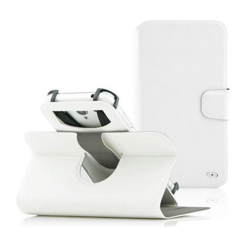 """FONEX Denim Window Custodia Universale per Dispositivi fino a 5"""" Colore Bianco"""