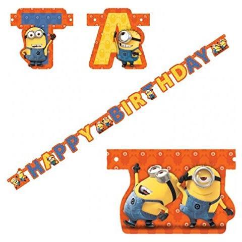 GIOCOPLAST Minions - Scritta Happy Birthday
