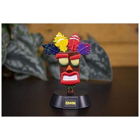 Paladone Products Paladone Mini Lampada Crash Bandicoot Aku, 1 W, Multicolore