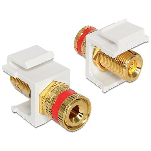 DeLOCK 86304 Oro, Rosso, Bianco cavo di interfaccia e adattatore