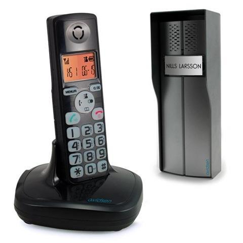 Image of Citofono Wireless Funzione Telefono Nero