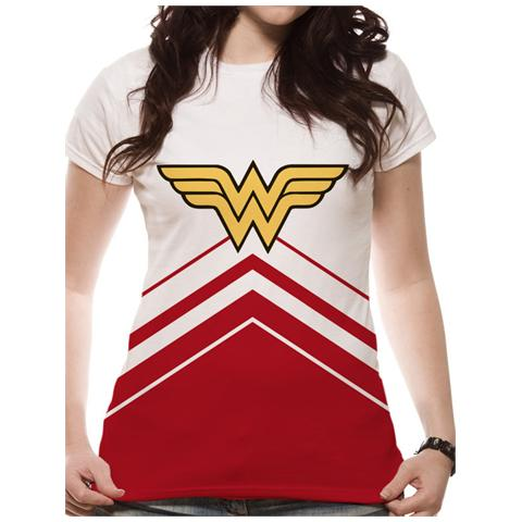 CID Wonder Woman - Cheer Leader Logo (Fitted T-Shirt Donna Tg. S)