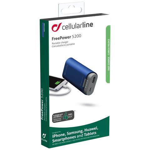 CELLULAR LINE Caricabatteria Emergenza 5200 Blu